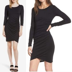 Leith Ruched Plus Long Sleeve Sheath Dress, XXL!